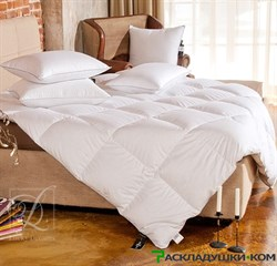 """Одеяло Lucky Dreams Bliss, теплое  - Серый пух сибирского гуся категории """"Экстра"""" - фото 10399"""