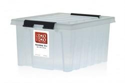 "Ящик пластиковый с крышкой ""RoxBox"" 8 л, прозрачный 340х230х160см - фото 21316"
