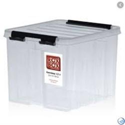 """Ящик пластиковый с крышкой """"RoxBox"""" 4.5 л, прозрачный 170x180x210 см - фото 21962"""